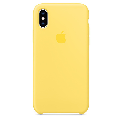 Чехол IPX/XS Silicone Case Canary Yellow