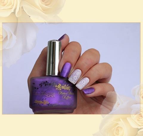 El Corazon Лак Matte Shine Effect 162 фиолетовый