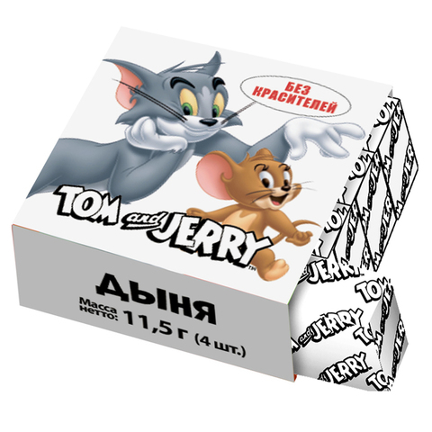Жевательные конфеты Tom and Jerry со вкусом дыни, 11,5 г