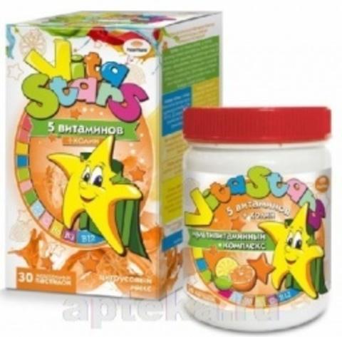 Мультивитаминный комплекс Vita STARS с жевательной пастой CHOLINE N30 3,0 / CITRUS MIX