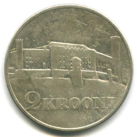 2 кроны 1930 Эстония F-VF (Замок Тоомпеа) Серебро