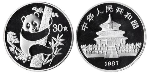 Жетон Китайская панда. Китай. 1987 год. PROOF
