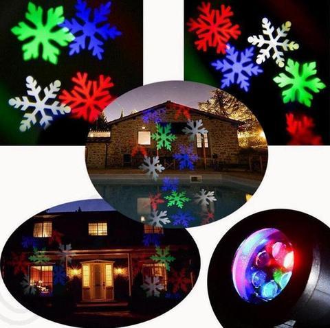 Светодиодный уличный новогодний проектор
