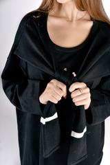Черное трикотажное платье миди недорого
