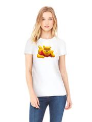 Футболка с принтом мультфильма Винни-Пух (Winnie the Pooh) белая w006