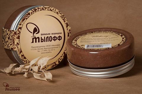 Скраб для тела сахарный ручной работы Шоколад  с маслами какао, ши, кокоса и витамином Е, 250 г, ТМ Мылофф