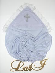 Махровая пеленка крестильная Славяночка (белый)