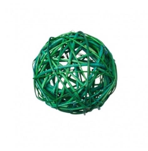 Плетеные шары из ротанга (набор:6 шт., d10см, цвет: зеленый