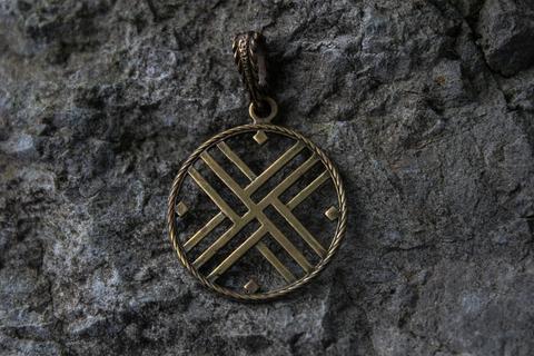 славянский бронзовый оберег Путник