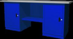 Верстак с двумя тумбами — две тумбы с дверцами, 1900х686х845 мм