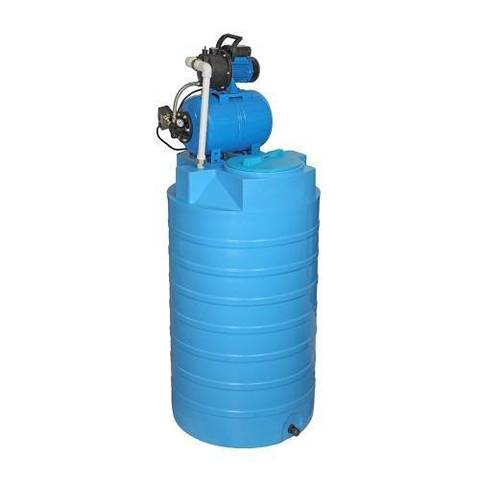Бак для воды АКВАТЕК ATV 500 (с насосной станцией, цвет синий)