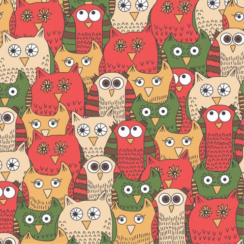 Смешные красные совы
