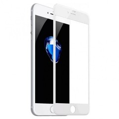 Защитное 3D-стекло Premium Glass для iPhone 7/8 Plus White - Белое