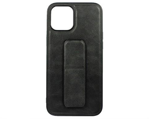 YASHI / Чехол для iPhone 12 Pro Max искусственная кожа | с держателем черный