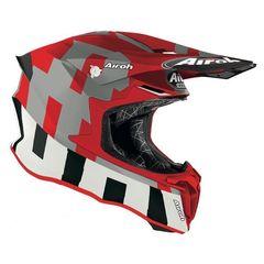 Кроссовый шлем Airoh Twist 2.0 Frame матово - красный размер S (55-56)