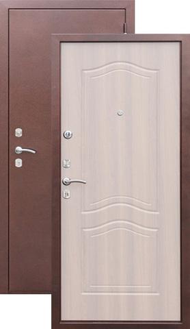 Дверь входная Йошкар Гарда, 2 замка, 1,5 мм  металл, (медь+беленый дуб)