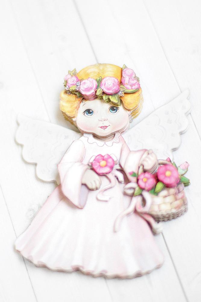 Ангел в розовом - готовая работа, вид снизу.
