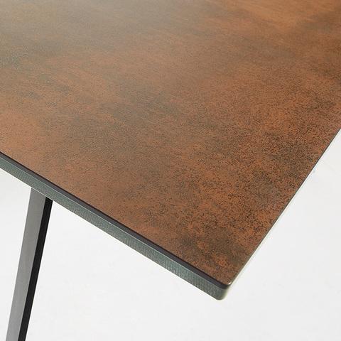 Стол Nack 160x90 Черный, коричневый