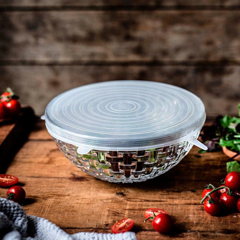 Купить хрустальный салатник с силиконовой крышкой, круглый,Nachtmann