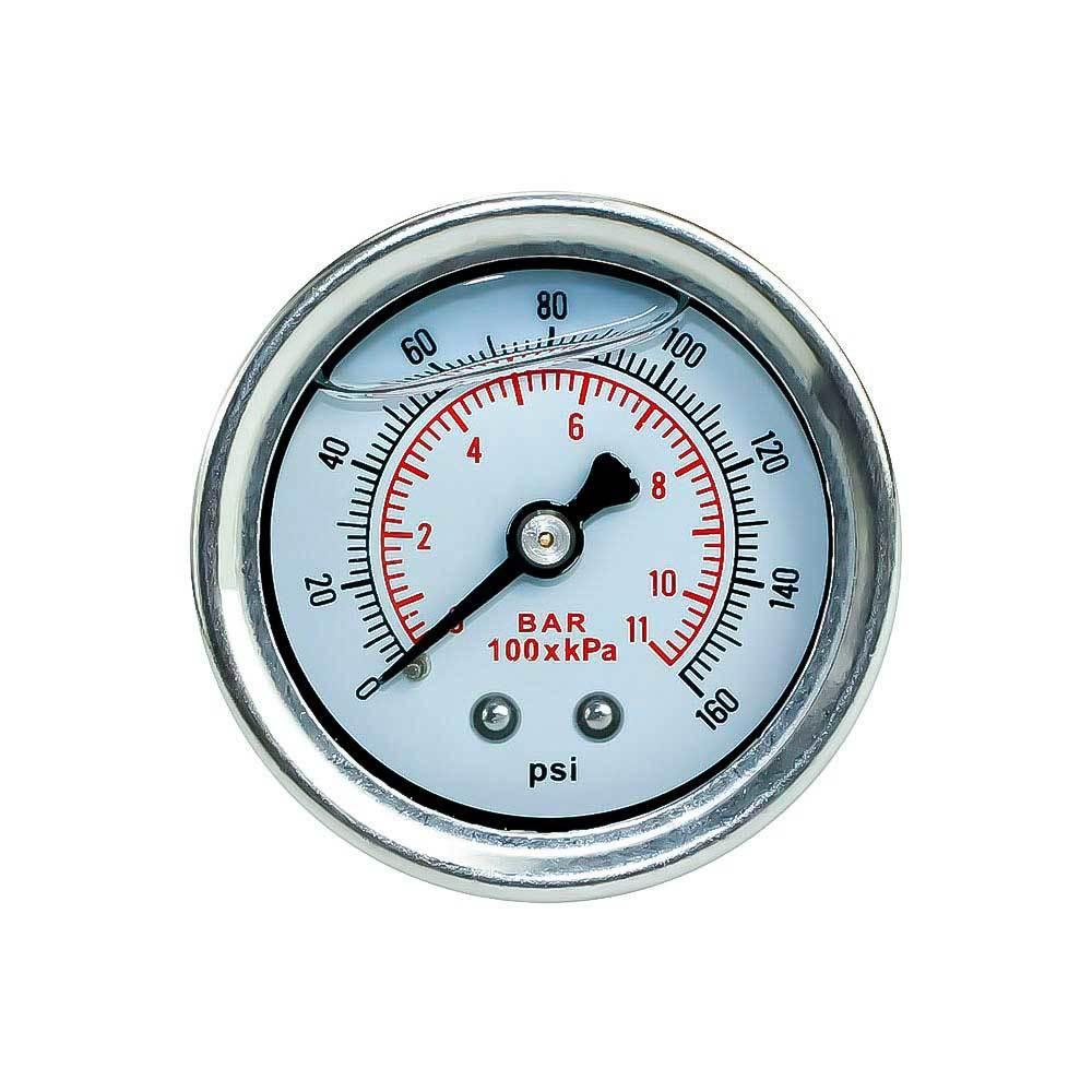 Топливный манометр 10 BAR и 160 PSI с двойной шкалой