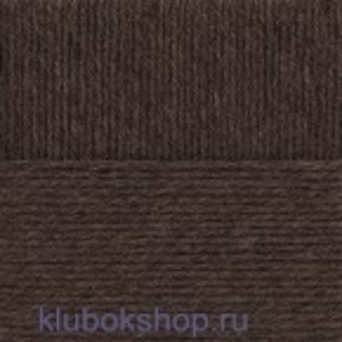 Пряжа Молодежная Пехорка 517 коричневый меланж - купить в интернет-магазине недорого klubokshop.ru