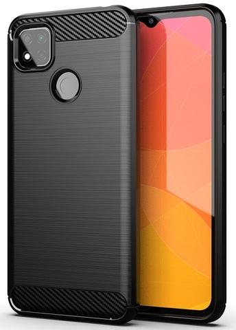 Чехол черного цвета на телефон Xiaomi Redmi 9c, серии Carbon от Caseport