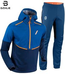 Элитный Утеплённый Костюм для Лыж и Зимнего Бега Bjorn Daehlie Balance Power Estate Blue мужской