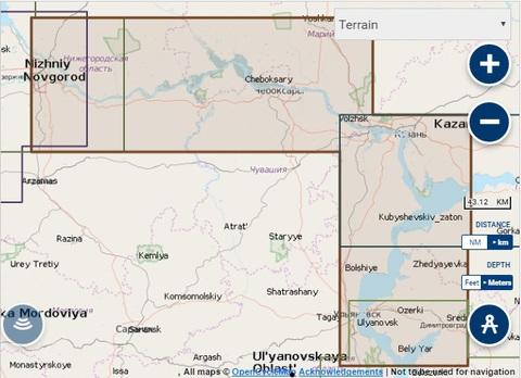 Карта: Нижний Новгород - Ульяновск, Navionics+ Small 5G627S2