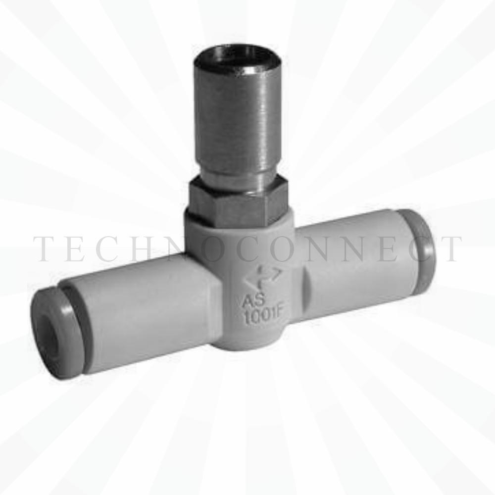 AS3001F-10-3   Дроссель с обратным клапаном, панельного монтажа, б/р 10