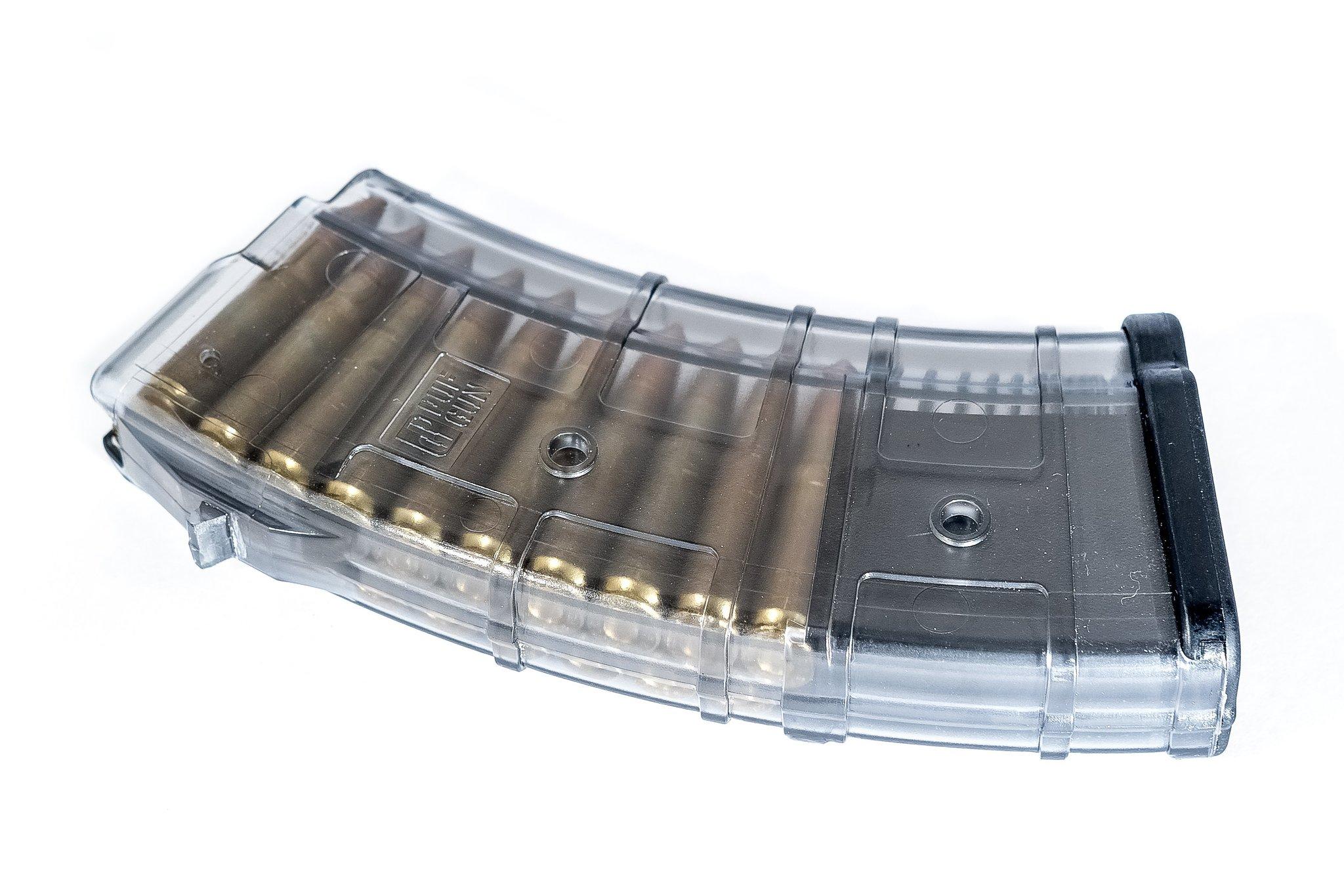 Магазин Pufgun для АК/Сайга/ВПО-133 7.62x39 на 20 патронов, прозрачный
