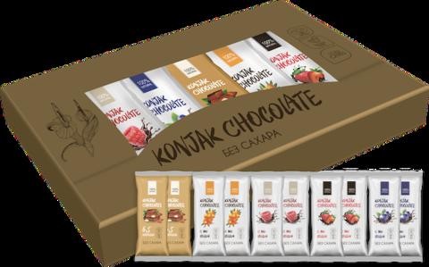 Шоколад без сахара KONJAK CHOCOLATE НАБОР, кор. 10 шт.
