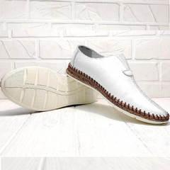 Модные слипоны туфли мужские смарт кэжуал летние Luciano Bellini 91724-S-304 All White.