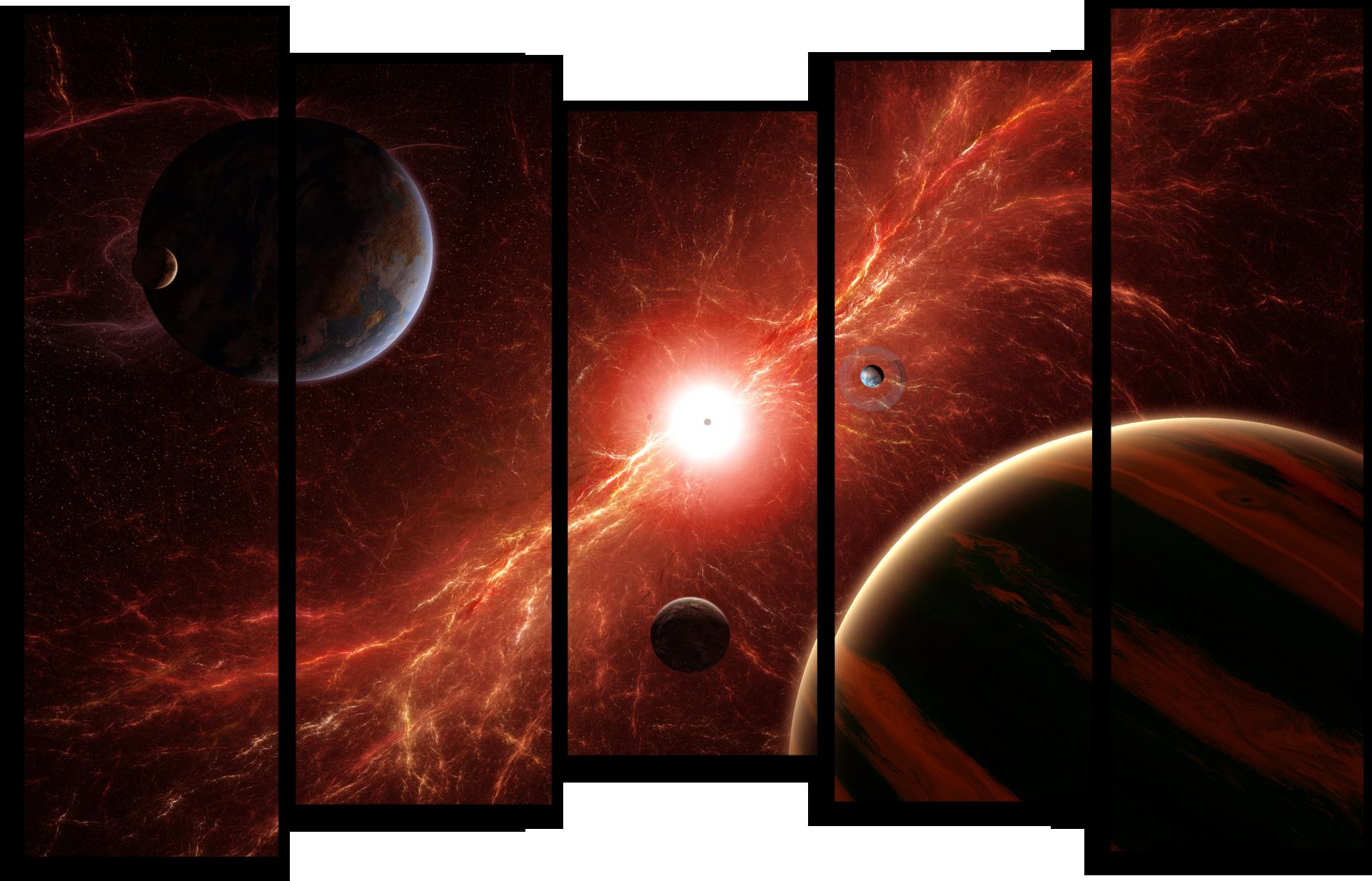 """Космос Модульная картина """"Звездное озарение"""" М512.png"""