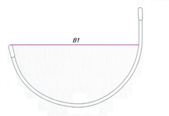 Каркасы для бюстгальтера металлические  (Стандартные)