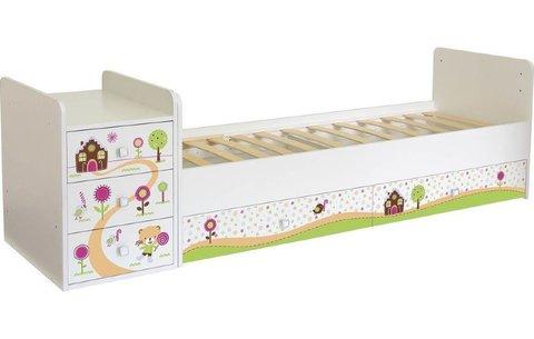 Кроватка детская ФЕЯ 1100 Пряничный домик, белый