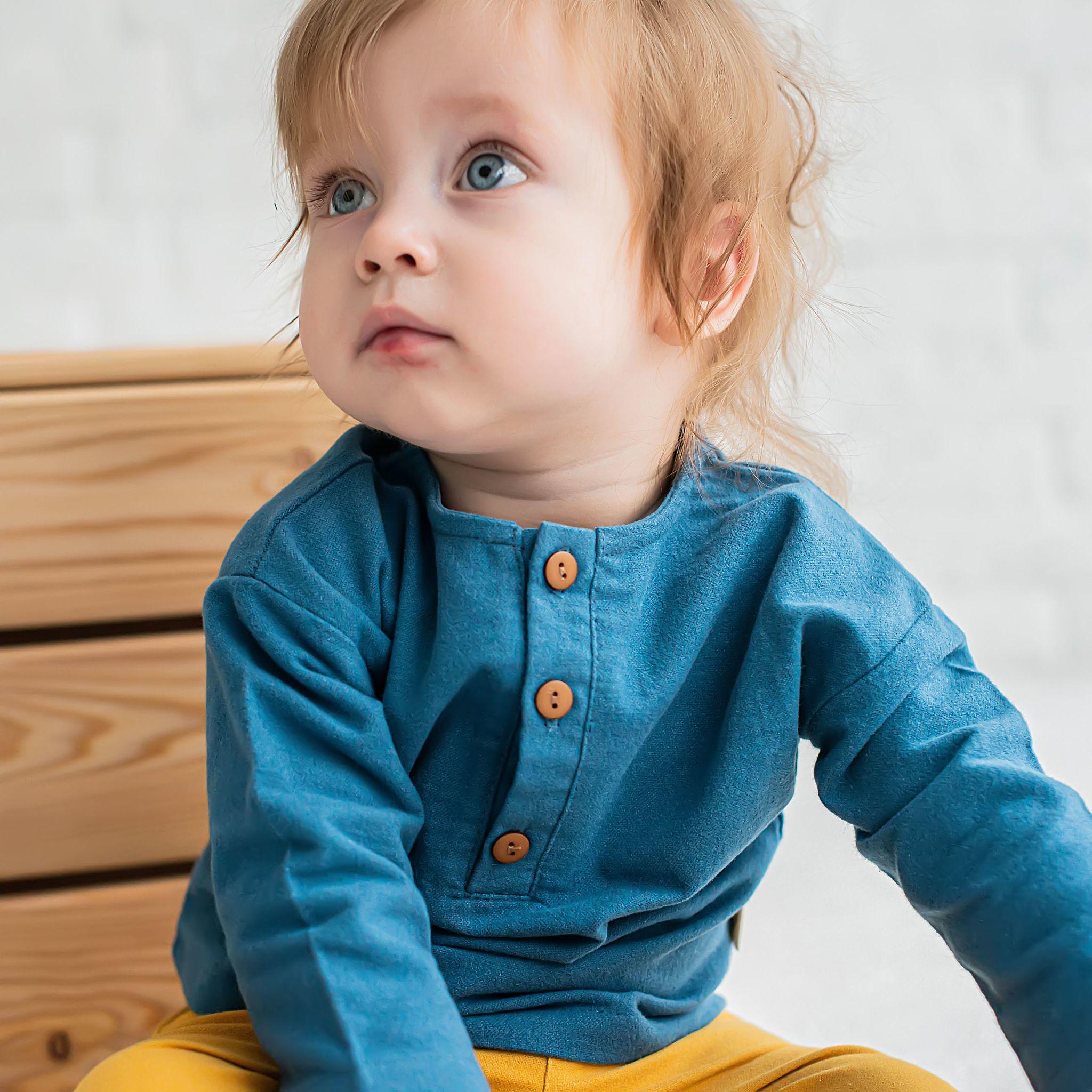 Flannel shirt 0+, Cobalt Blue