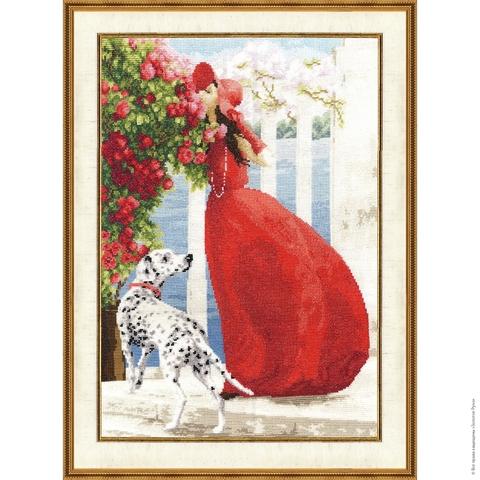 Размер: 39×28 см;¶Канва: Аида белая 16;¶Вышивается в 2 нити;¶Количество цветов: 49.