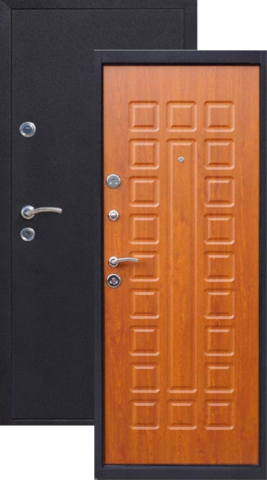 Дверь входная Йошкар Йошкар, 2 замка, 1,5 мм  металл, (медь антик+дуб золотистый)
