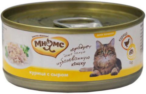 Мнямс консервы для кошек Курица с сыром  в нежном желе