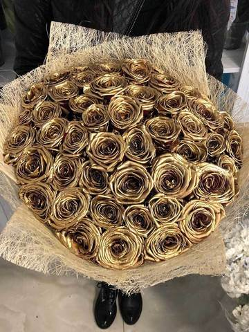 Букет из 45 золотых роз