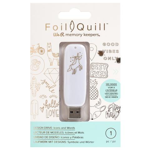 Флешка с набором картинок -We R Memory Keepers Foil Quill USB Artwork Drive Icons & Words