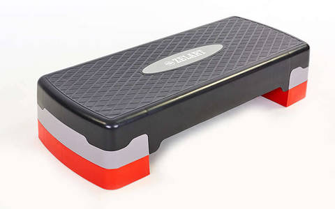 Степ-платформа (пластик, покрытие TPR, 68x28x10+5 см,)