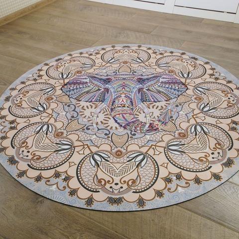 Коврик для йоги и медитации Слон из замши и каучука 140*140 см