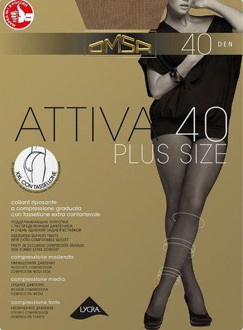 Attiva 40 XXL PLUS SIZE OMSA колготки