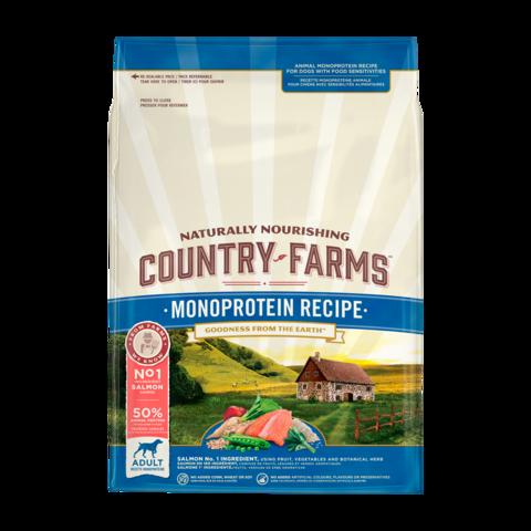 Country Farms Monoprotein Recipe Сухой корм для взрослых собак с высоким содержанием лосося монопротеиновый, полнорационный