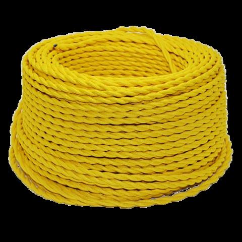 Витой ретро провод (Желтый)
