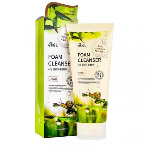 Ekel Snail Foam Cleanser очищающая пенка с экстрактом секрета улитки