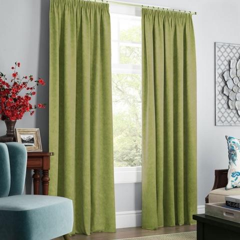 Комплект штор с подхватами Адалин зеленый