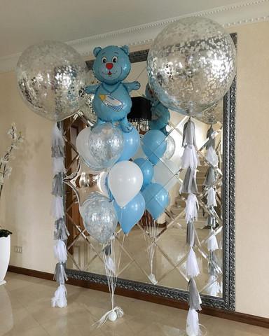 Набор из воздушных шаров на выписку для мальчика №7