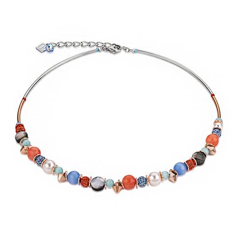 Колье Coeur de Lion 4864/10-2002 цвет мультиколор, синий, оранжевый